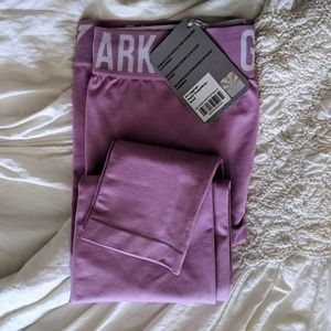 Gymshark fit leggings pastel grape/white new small